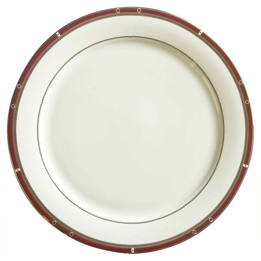 "Syracuse China 954321333 9"" Barrymore Accent Plate - Round, White"