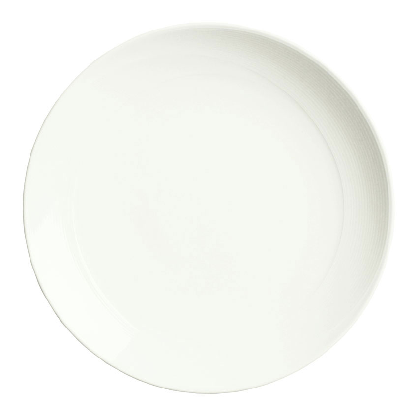"Syracuse China 987659302 10.12"" Round Plate, Coupe, w/ Silk Patten & Royal Rideau Alumina Body"