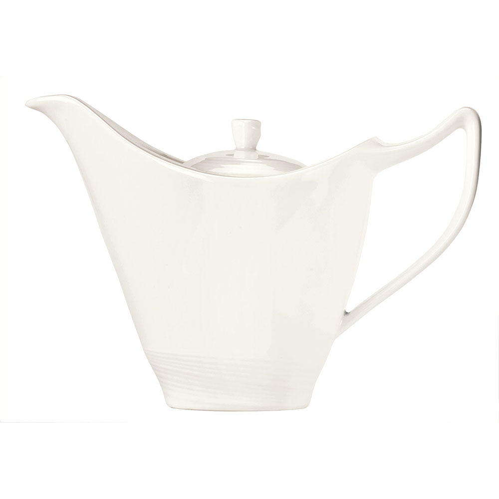 Syracuse China 987659336 14-1/2-oz Royal Rideau Tea Pot - Lid, Silk, White