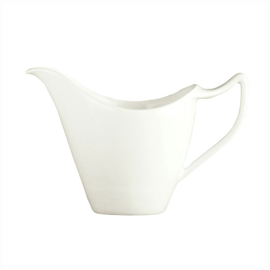 Syracuse China 987659339 3.75-oz Handled Creamer w/ Silk Pattern & Royal Rideau, Alumina Body