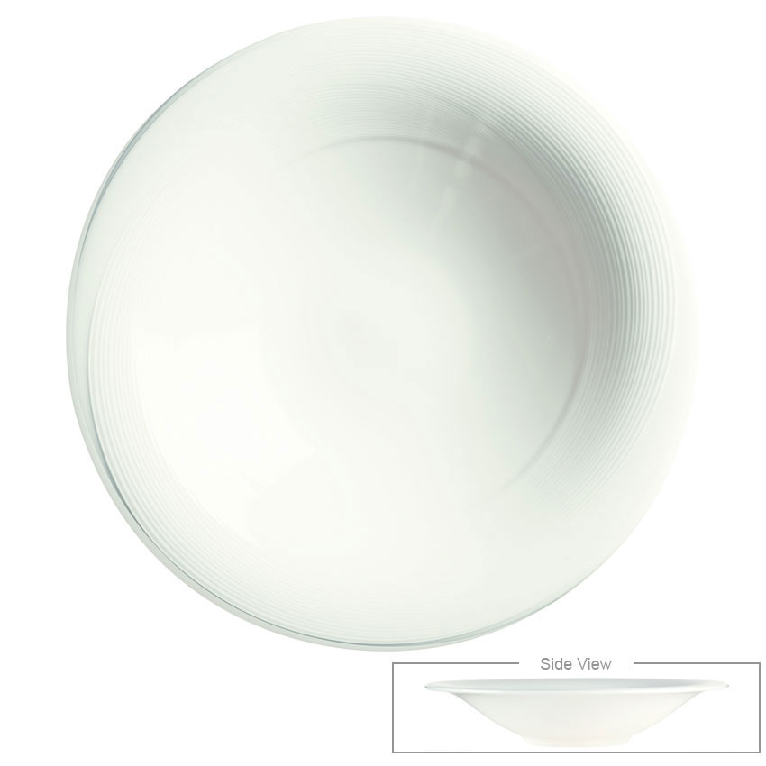 Syracuse China 987659357 12-oz Royal Rideau Coupe Bowl - Round, Glazed, White