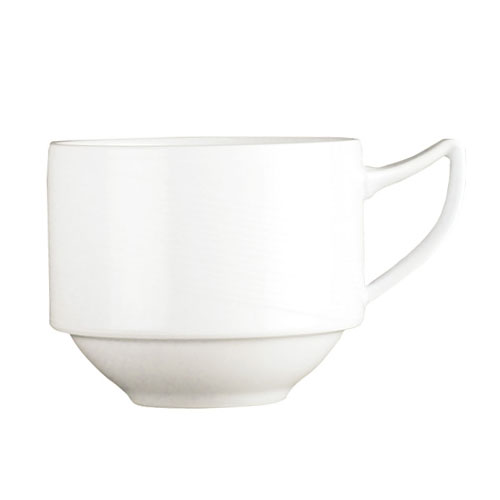 Syracuse China 987659364 8.5-oz Handled Cup w/ Silk Pattern & Royal Rideau, Alumina Body