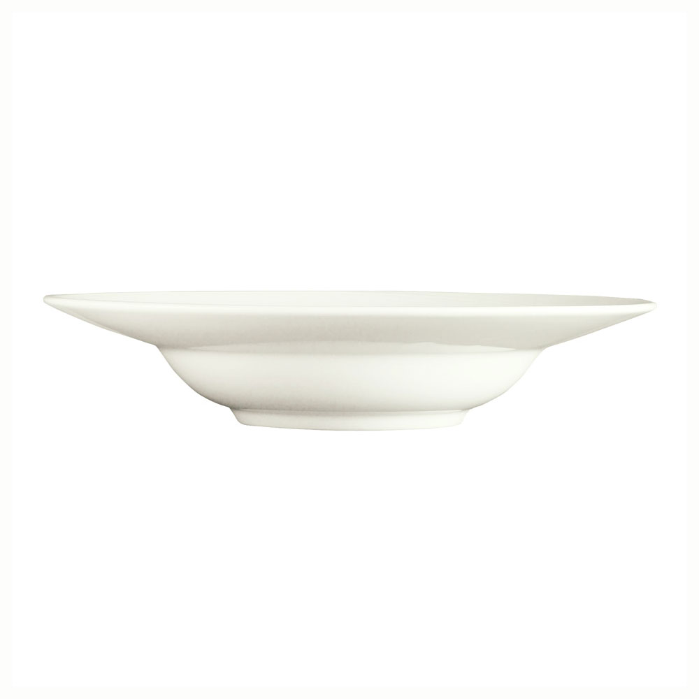 Syracuse China 987659374 8.5-oz Soup Bowl, Rim Deep, w/ Silk Pattern & Royal Rideau, Alumina Body