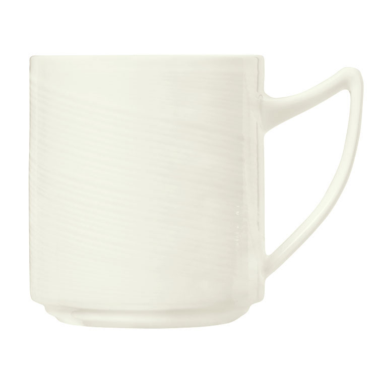 Syracuse China 987659387 12-1/4-oz Royal Rideau Mug - Silk, White