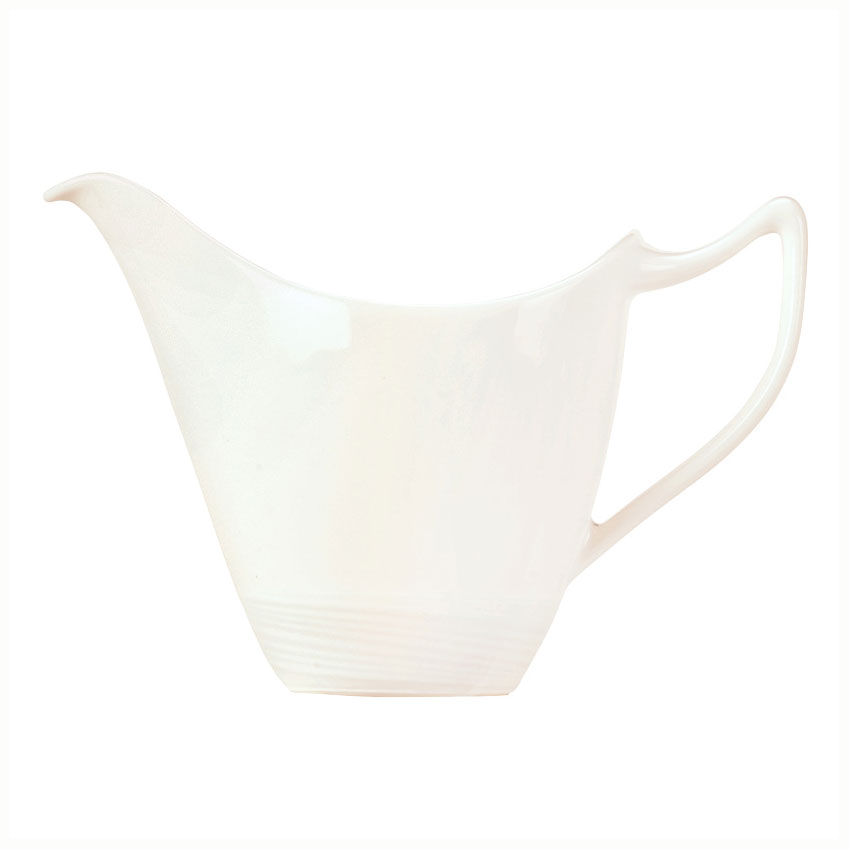 Syracuse China 987659396 6-oz Royal Rideau Creamer - Handle, Silk Pattern, White