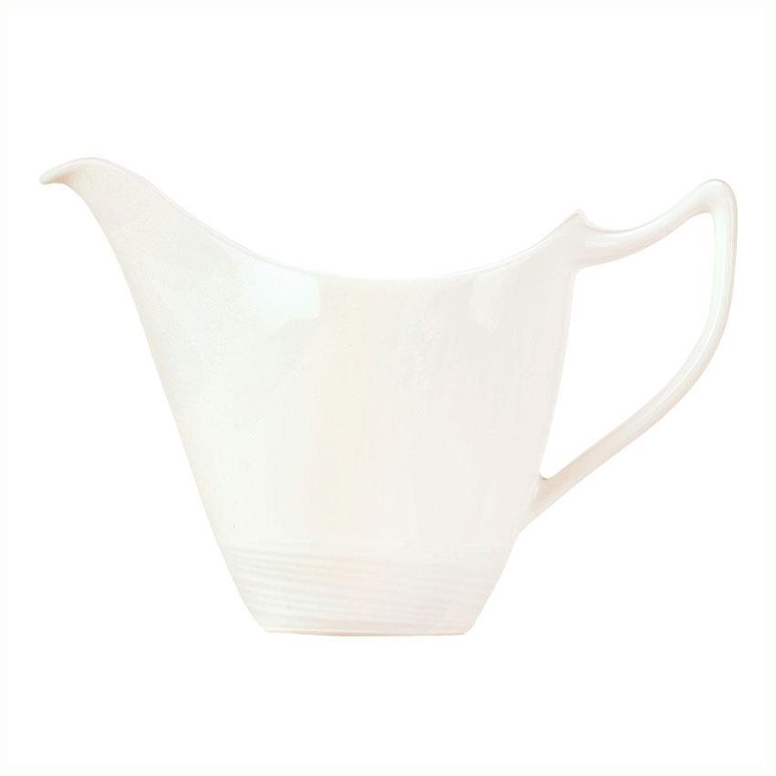 Syracuse China 987659396 6-oz Royal Rideau Creamer - Handle, Silk Pattern, White