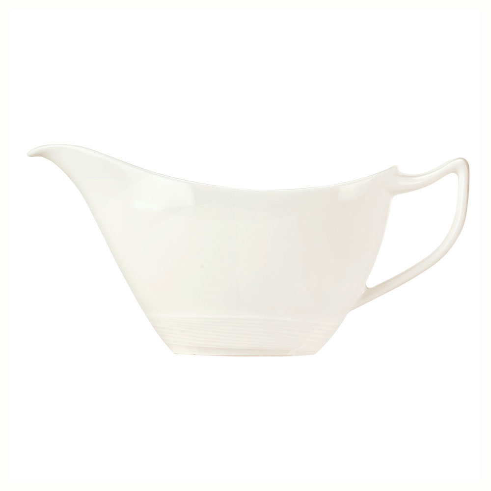 Syracuse China 987659398 6-oz Royal Rideau Sauce Boat - Handle, Silk Pattern