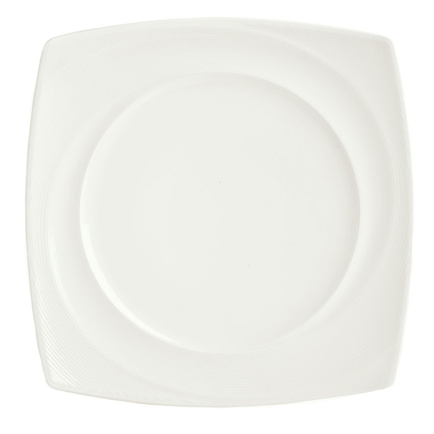 "Syracuse China 987659433 8-1/4"" Silk Pattern Plate - Square, White"