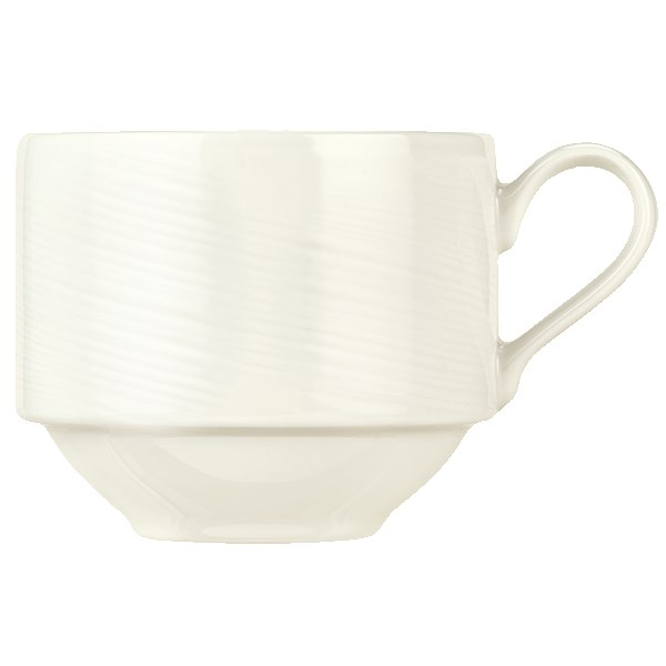 Syracuse China 987659436 8.5-oz Silk Cup - Porcelain, Royal Rideau White