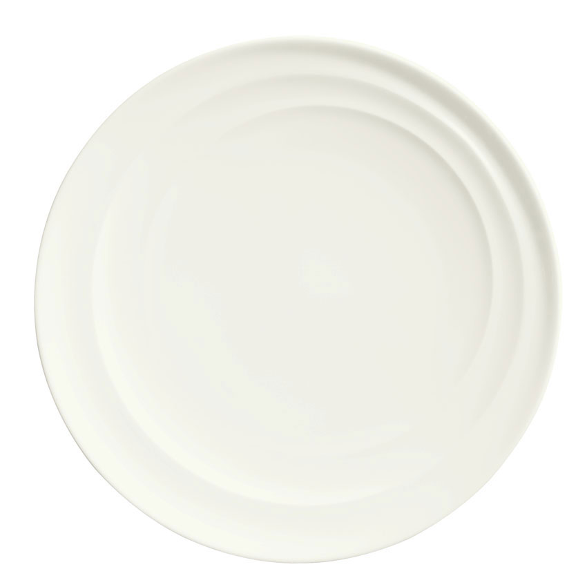 "Syracuse China 995679502 10.25"" Plate w/ Resonate Pattern & Royal Rideau, Alumina Body"