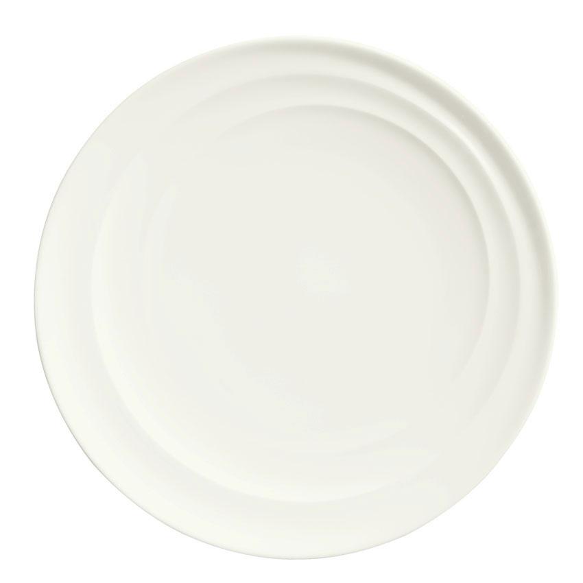 """Syracuse China 995679502 10.25"""" Plate w/ Resonate Pattern & Royal Rideau, Alumina Body"""
