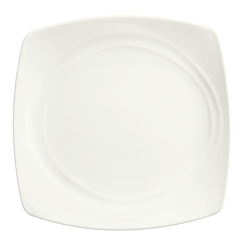 "Syracuse China 995679506 11.75"" Square Plate w/ Resonate Pattern & Royal Rideau, Alumina Body"