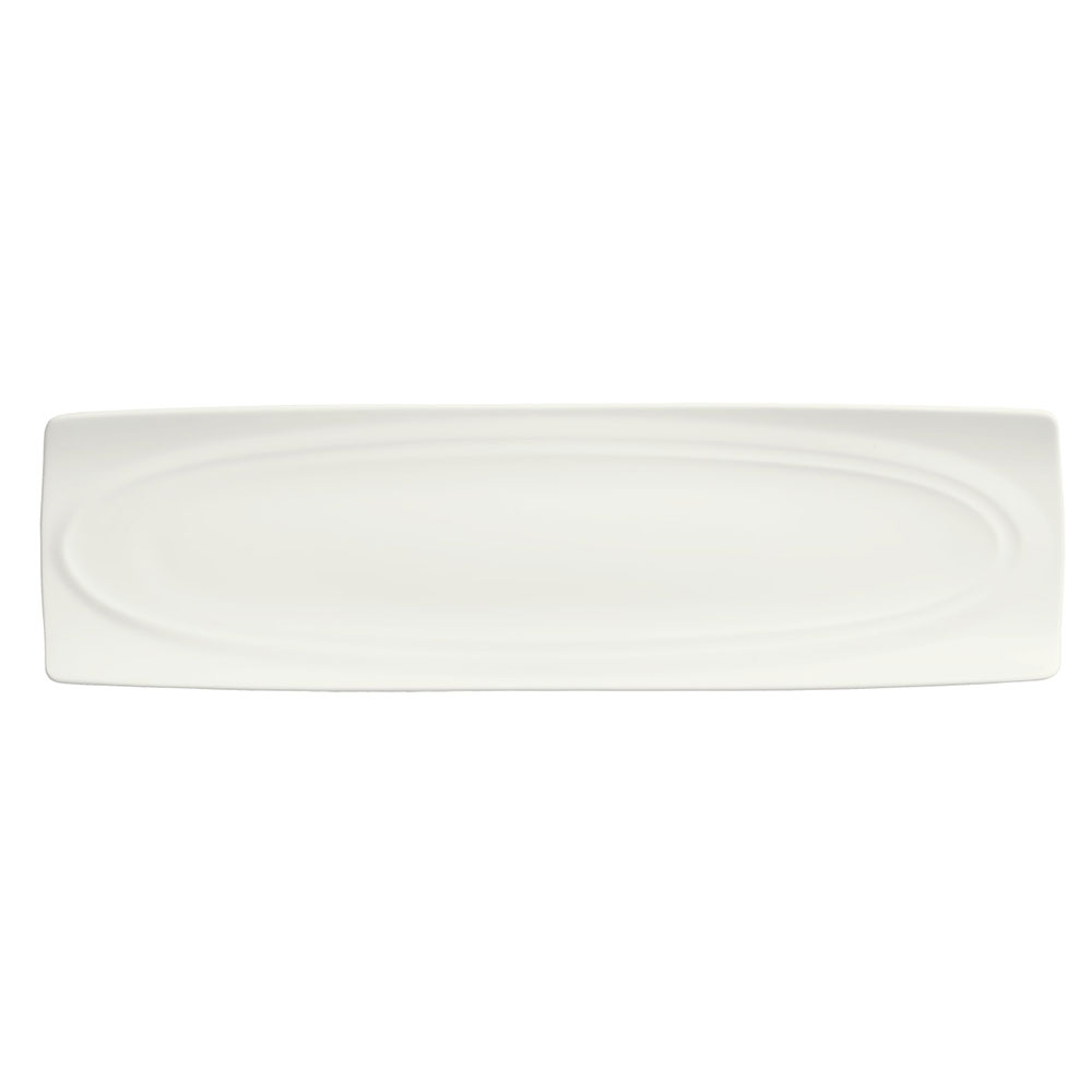 Syracuse China 995679510 Long Platter w/ Resonate Pattern & Royal Rideau, Alumina Body, 15x4.12-in