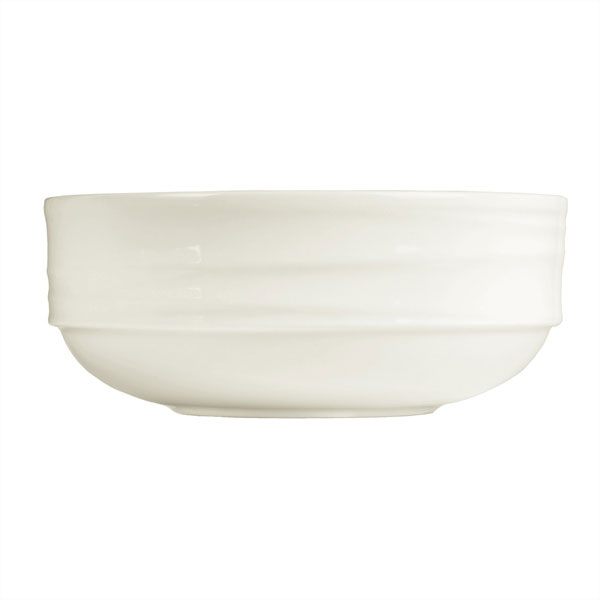 Syracuse China 995679513 42-oz Stackable Entree Bowl w/ Resonate Pattern & Royal Rideau, Alumina Body