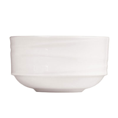 Syracuse China 995679515 10.5-oz Stackable Entree Bowl w/ Resonate Pattern & Royal Rideau, Alumina Body