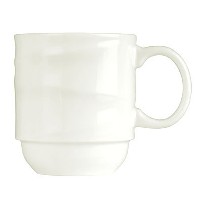 Syracuse China 995679521 12-oz Stacking Mug w/ Resonate Pattern & Royal Rideau, Alumina Body