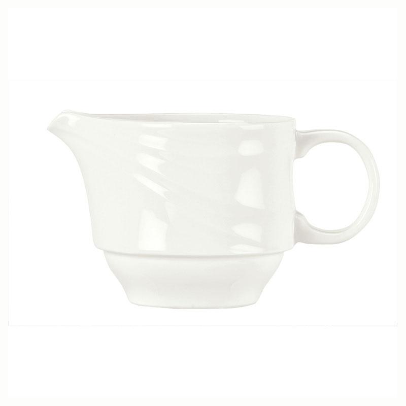 Syracuse China 995679522 6-oz Royal Rideau Creamer - Handle, Resonate Pattern, White