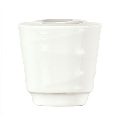 "Syracuse China 995679525 2-1/8"" Royal Rideau Salt Shaker - Round, White"