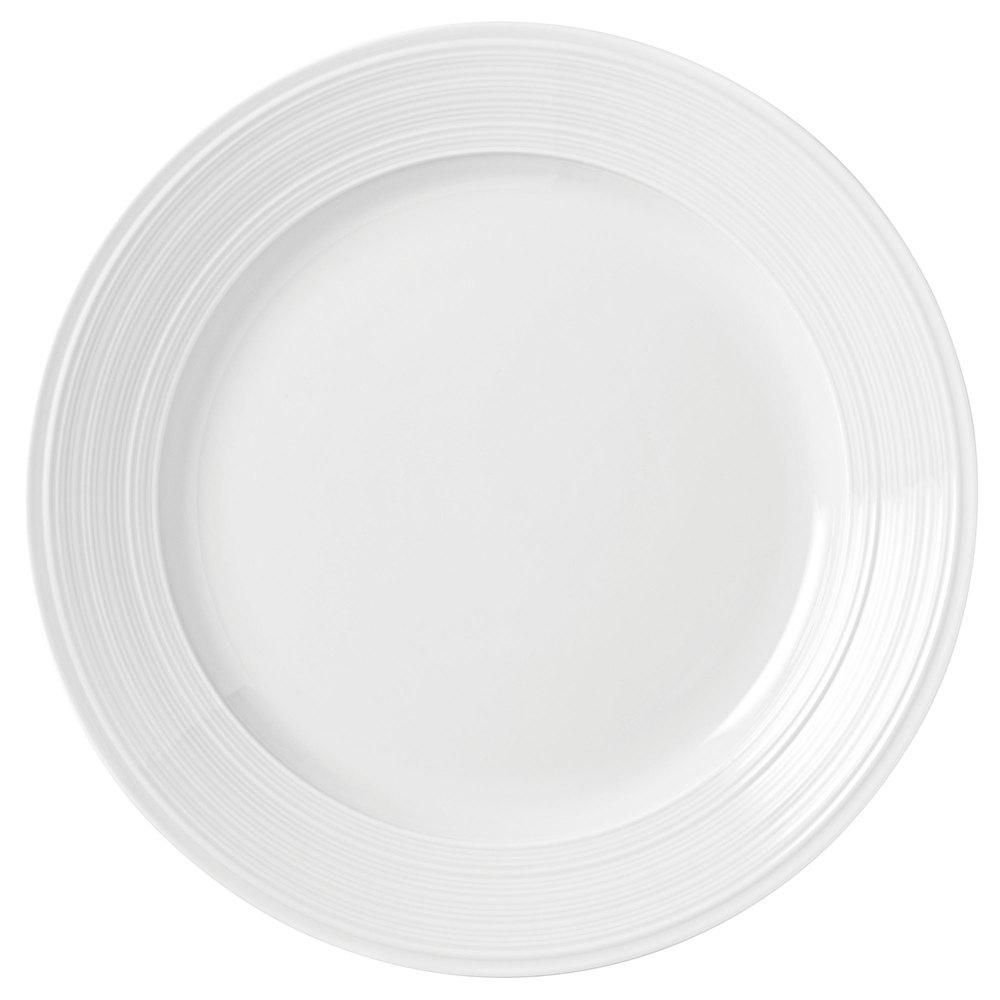 "Syracuse China 999001149 10.25"" Galileo Constellation Plate - Porcelain, Lunar White"