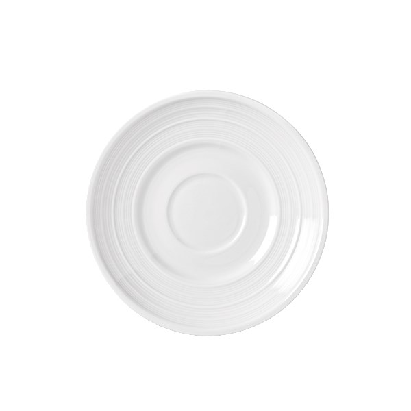 "Syracuse China 999001500 6"" Galileo Constellation Saucer - Porcelain, Lunar White"
