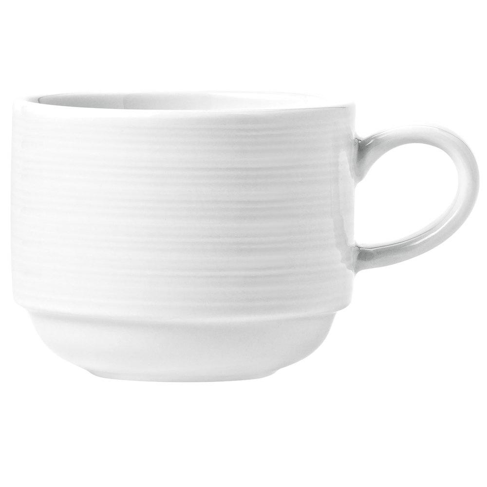 Syracuse China 999001531 9-oz Galileo Constellation Cup - Porcelain, Lunar White