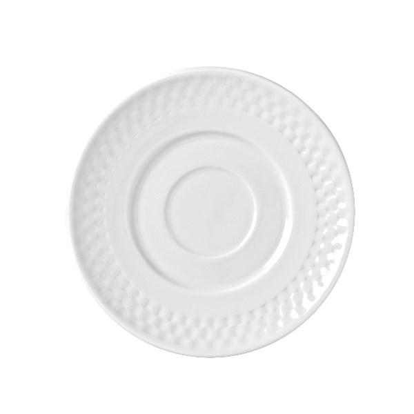 "Syracuse China 999013500 6"" EOS Constellation Saucer - Porcelain, Lunar White"