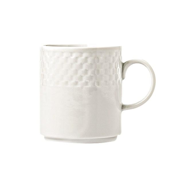 Syracuse China 999013572 12-oz EOS Constellation Mug - Porcelain, Lunar White