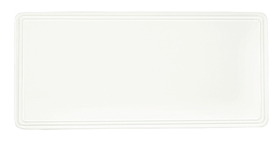 Syracuse China 905356001 Flat Rectangular Tray w/ Slenda Shape, Vitrified China, 11x5.13-in