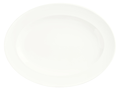 Syracuse China 905356837 11.5-in Platter w/ Slenda Pattern & Shape, Royal Rideau Body