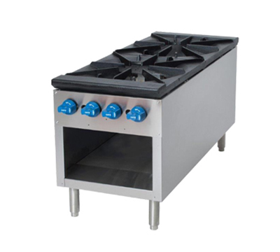 Comstock-castle 2CSP18 2-Burner Stock Pot Range, NG