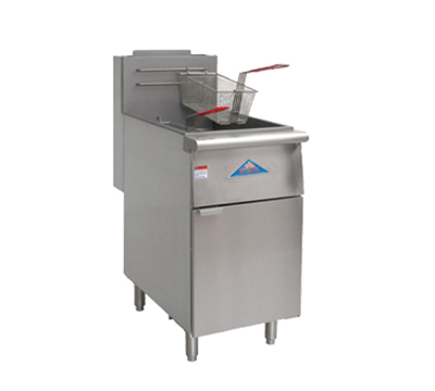 Comstock-castle EFS18-G Gas Fryer - (1) 80-lb Vat, Floor Model, LP