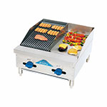"Comstock-castle FHP24-12-1RB 24"" Radiant Char-Broiler & Griddle w/ 3/4"" Steel Plate, LP"