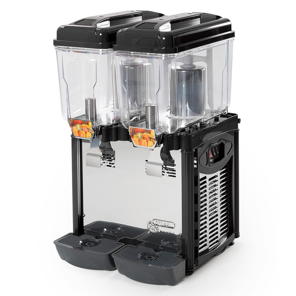 Eurodib CD2J Juice Dispenser w/ (2) 3.2-Gallon Polycarbonate Tank