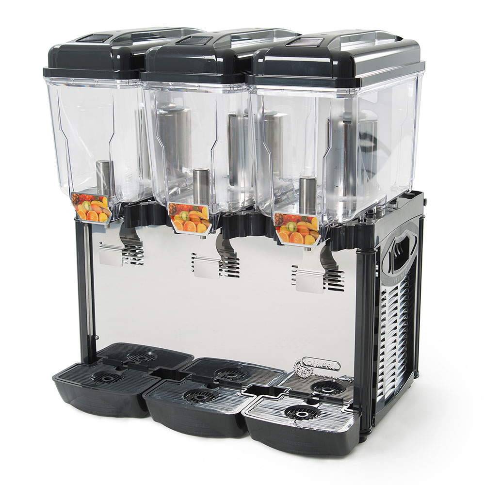 Eurodib CD3J Juice Dispenser w/ (3) 3.2-Gallon Polycarbonate Tank