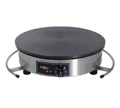 """Eurodib CEBIR4AS Krampouz 16"""" Round Crepe Maker - Cast Iron Griddle, Thermostatic, Stainless"""