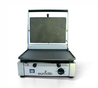 Eurodib CORT-R 110 Panini Grill w/ Ribbed Top & Bottom 10 x 15-in Plate, 110 V