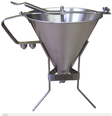 Eurodib EX180014 Sauce Funnel w/ 2-qt Capacity & 3-Nozzles, Stainless