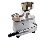 Eurodib HF-100 Hamburger Press w/ Stainless 4-in Mold & Built In Sheet Holder