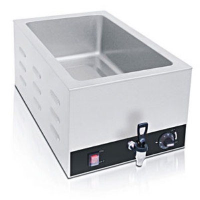 Eurodib IHE3095 Countertop Foodwarmer w/ Spout, 24-Liter Capacity, 110 V