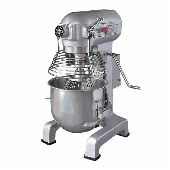 Eurodib M20A UL 3-Speed Mixer w/ Stainless Bowl, Whip Hook, Beater, 20-qt