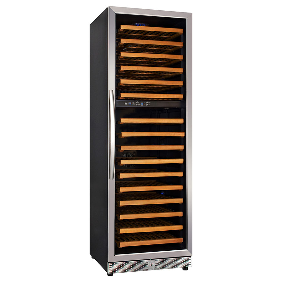 "Eurodib MH168DZ 24"" One Section Wine Cooler w/ (2) Zones, 154-Bottle Capacity, 110v"