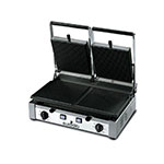 Eurodib PDR3000 Double Commercial Panini Press w/ Cast Iron Grooved Plates, 220v/1ph