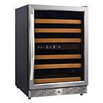 "Eurodib USF54D 23.4"" One-Section Wine Cooler w/ (2) Zones - 46-Bottle Capacity, 110v"