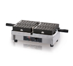 "Eurodib WECDBAAS Belgian Waffle Maker, Single 4 x 6"", Cast Steel Irons, 120 V"