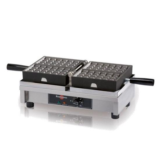 Eurodib WECDHAAS Belgian Waffle Iron, (2) 4 x 7-in Waffles, 120 V