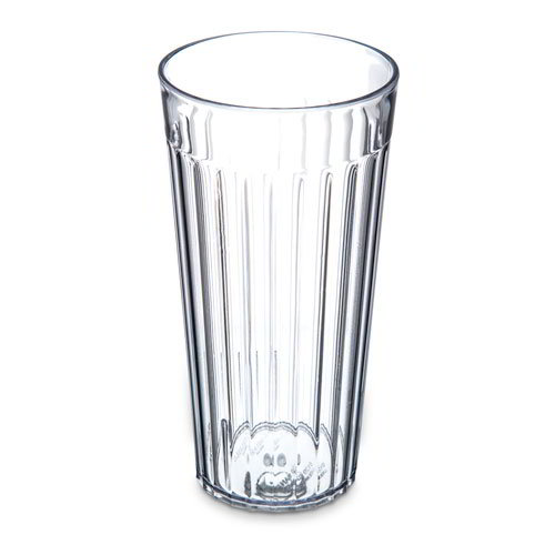 Carlisle 012007 20-oz Stackable Bistro Tumbler - Fluted, Clear
