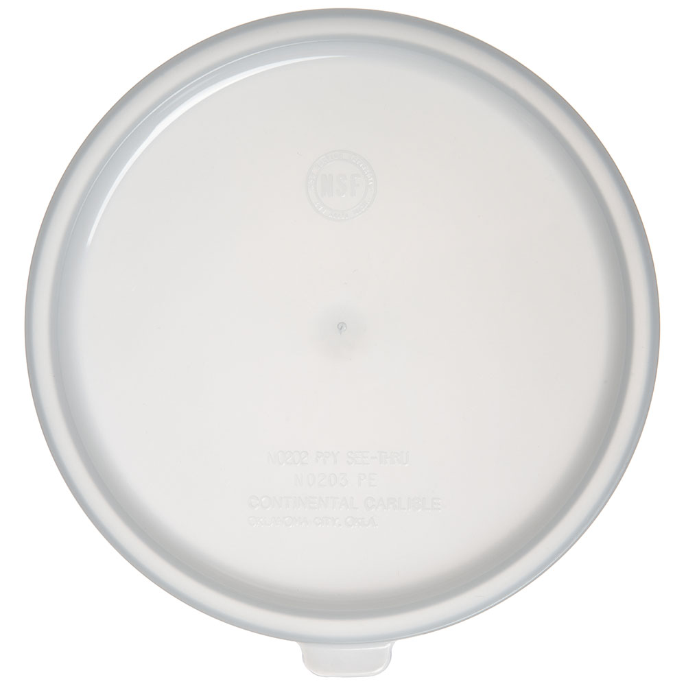Carlisle 020302 Bain Marie Food Storage Lid, 2-qt & 3.5-qt, Polyethylene, White
