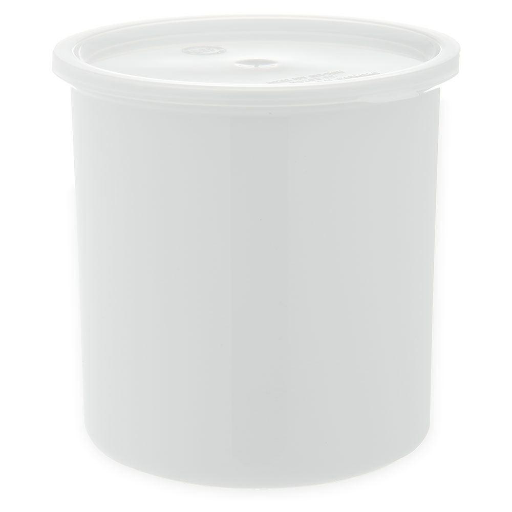 Carlisle 030202 2.7-qt Classic Crock - Snap-On Lid,  White