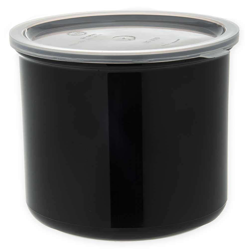 Carlisle 030403 4-qt Classic Crock - Snap-On Lid,  Black