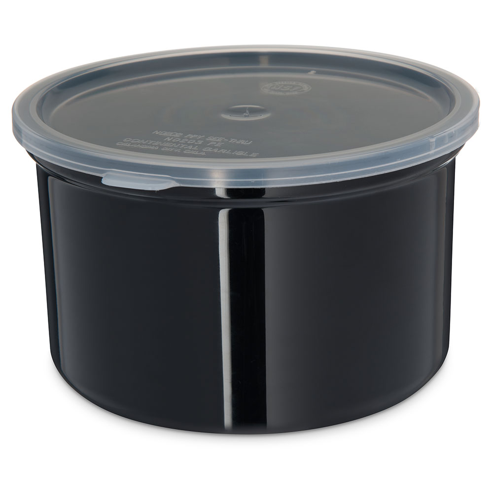 Carlisle 031603 1.5-qt Classic Crock - Snap-On Lid,  Black